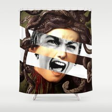 Caravaggio's Medusa & Psycho Shower Curtain