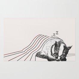 Snoozy Badger Rug