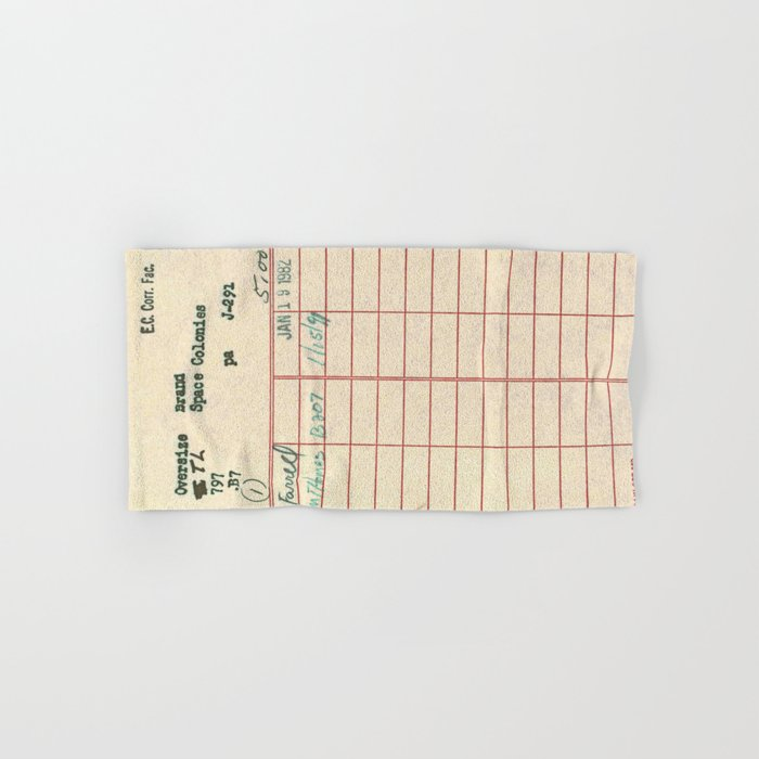 Library Card 797 Hand & Bath Towel
