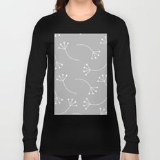 CUTE FLOWER PATTERN - GRAY Long Sleeve T-shirt