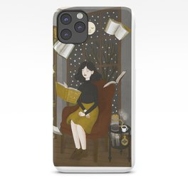 floating books iPhone Case