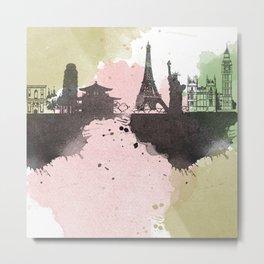 landscape watecolor Metal Print