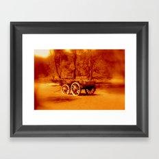Wagon Wheels Framed Art Print