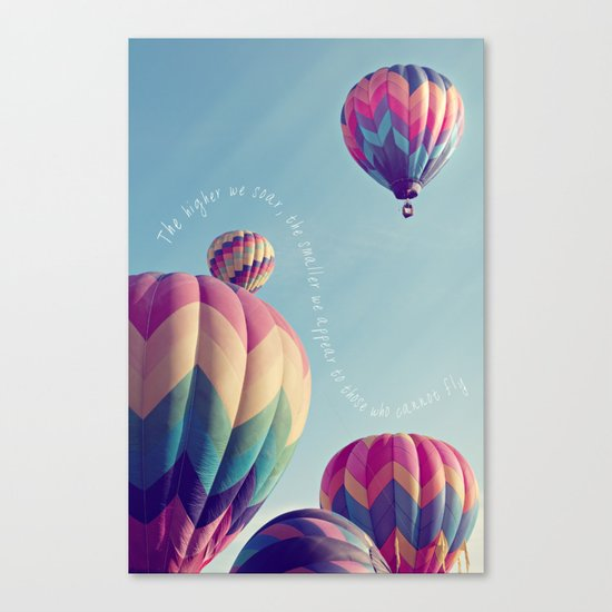 the higher we soar Canvas Print