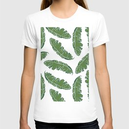 Nouveau Banana Leaf in White Pearl T-shirt