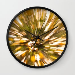 Autumn Leaves Abstract 2 Wall Clock