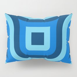Blue Truchet Pattern Pillow Sham