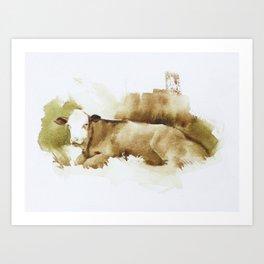 Ciao Vaca! Art Print