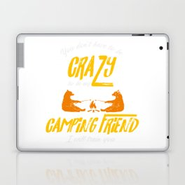Crazy Camping Friend Camp Fire Bears Marshmellows Laptop & iPad Skin