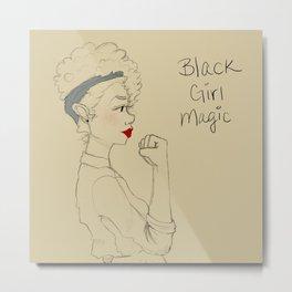 Black Girl Magic Tote Design Metal Print
