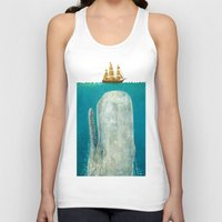 lotus flower Tank Tops featuring The Whale  by Terry Fan
