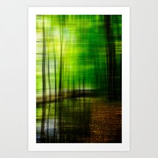 first days in fall Art Print