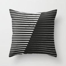 Black vs. White Throw Pillow