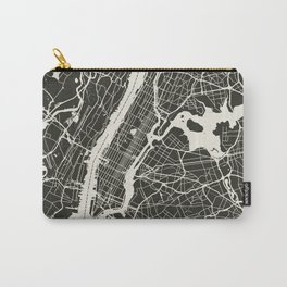 New York City Map_BLACK Carry-All Pouch