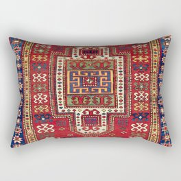 Kazak Antique West Caucasus Shield Rug Rectangular Pillow