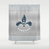 diamonds Shower Curtains featuring Diamonds by nicky2342