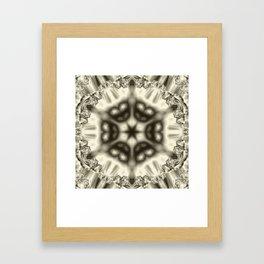 Sepia jewelled kaleidoscope splendor Framed Art Print