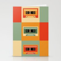 cassette Stationery Cards featuring cassette by vitamin