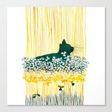 Clover Cat Canvas Print