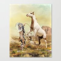 wild things Canvas Prints featuring Wild Things by Trudi Simmonds