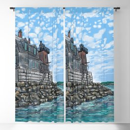 Breakwater Lighthouse Blackout Curtain