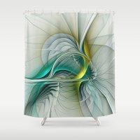 evolution Shower Curtains featuring Fractal Evolution by gabiw Art