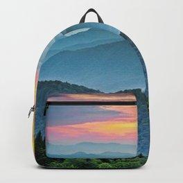 Mountain Range Sunset Backpack