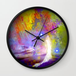 The Bride and Her Two Spirits Wall Clock
