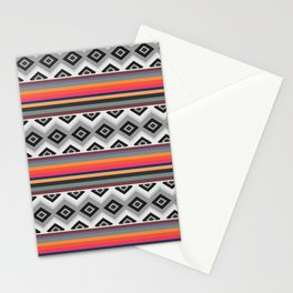 Ethnic and multicolored stripes Stationery Cards
