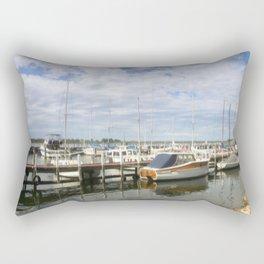 Moored Boats Rectangular Pillow