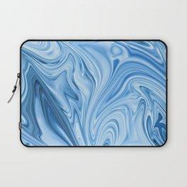 Blue Water Silk Marble Laptop Sleeve