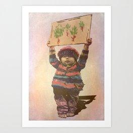 Mensaje de niño Art Print