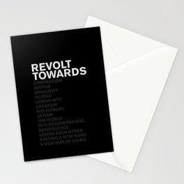 Revolt Towards (White) Stationery Cards