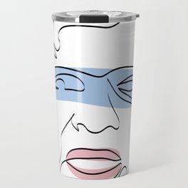 Line Art Maradona Travel Mug