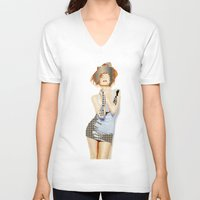 ruby V-neck T-shirts featuring Ruby by Rita Acapulco