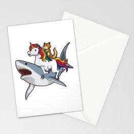 Shark Unicorn Cat - Awesome Friendship Stationery Cards