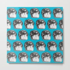 Minifigure Pattern – Blue Metal Print