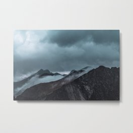 Misty morning before the summer storm Metal Print