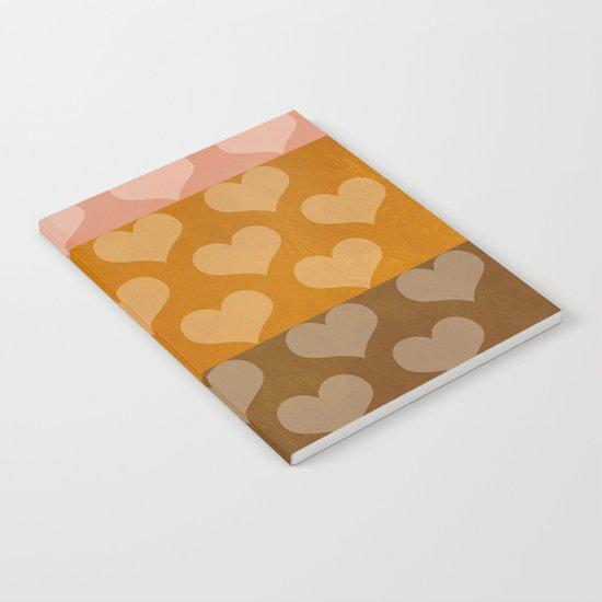 Patina Hearts Rose Gold Notebook