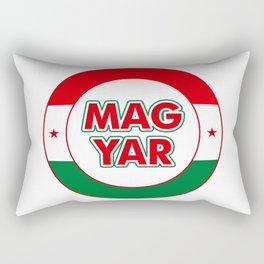 Magyar, circle, color Rectangular Pillow