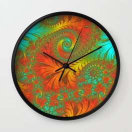 Mediterranean Muse - Fractal Art Wall Clock