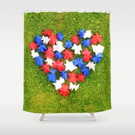 Paper heart Shower Curtain