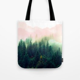 Watercolor mountain landscape Tote Bag