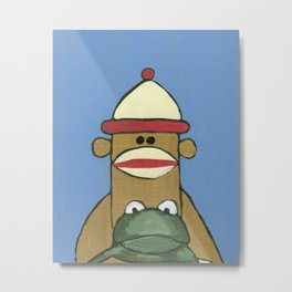 Sock Monkey 81 Metal Print