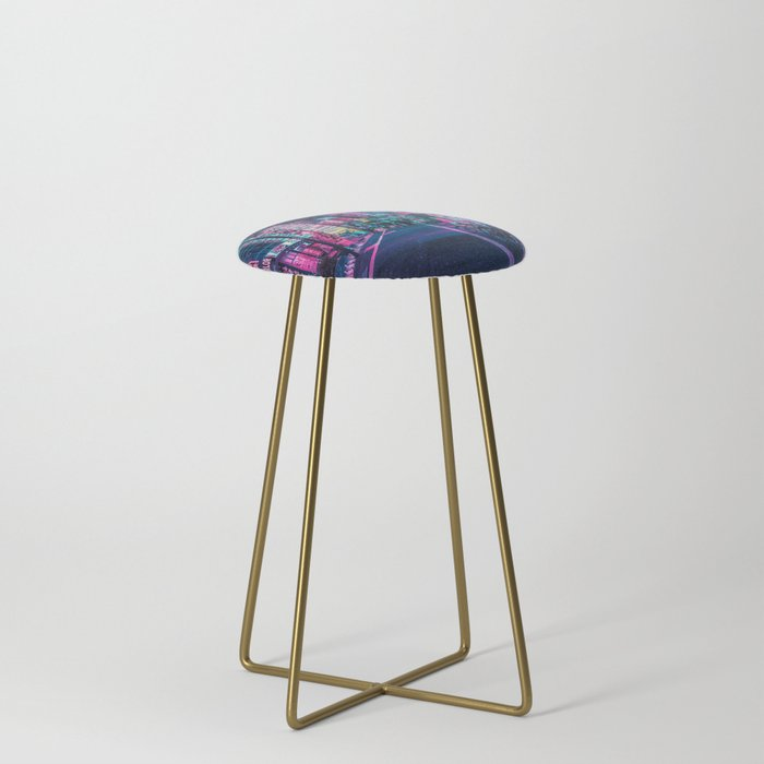 A_Neon_Wonderland_called_Tokyo_Counter_Stool_by_HimanshiShah__Gold