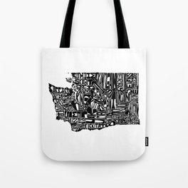 Typographic Washington Tote Bag