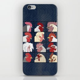 Rooster Face vertical iPhone Skin