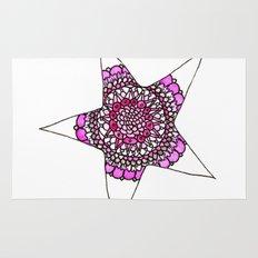 Pink Superstar Mandala Star Rug