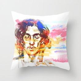 Music at sunset Throw Pillow