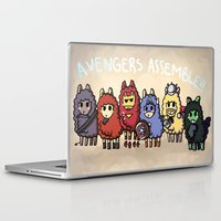 alpaca Laptop & iPad Skins featuring Alpaca Avengers by Angela Tran